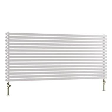DQ Heating Cube Single Panel Mild Steel Horizontal Designer Radiator - White